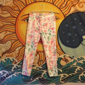 Abercrombie and Fitch floral skinny's 6